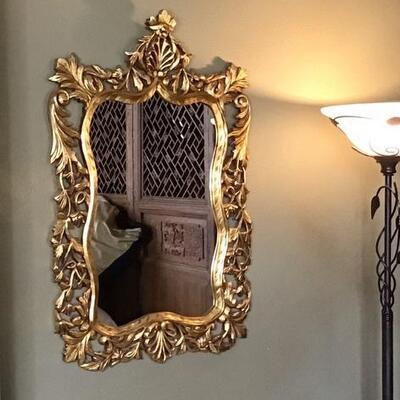 358 - Magnificent Gold Gilt Wall Mirror