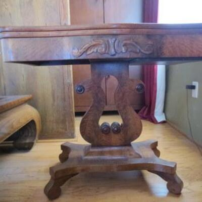 359 - Antique Harp Base Game Table