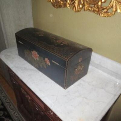 361 - Appealing & Nicely Painted Decorative Trunk Style Box