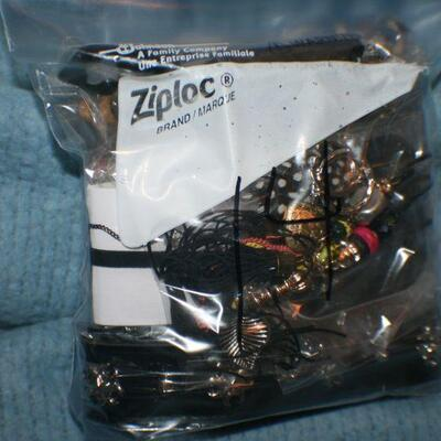 Quart Size Ziplock Bag of Jewelry -14