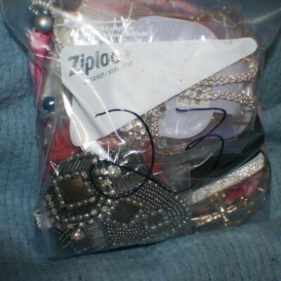 Quart Size Ziplock Bag of Jewelry -23