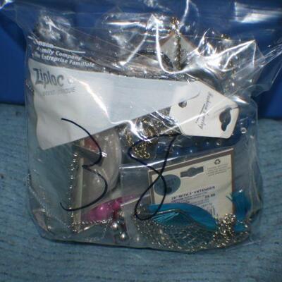 Quart Size Ziplock Bag of Jewelry -38