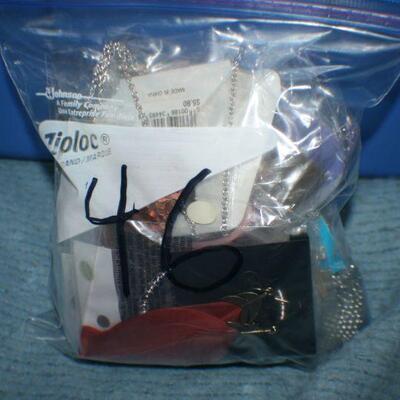 Quart Size Ziplock Bag of Jewelry -46
