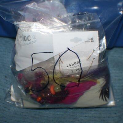 Quart Size Ziplock Bag of Jewelry -50