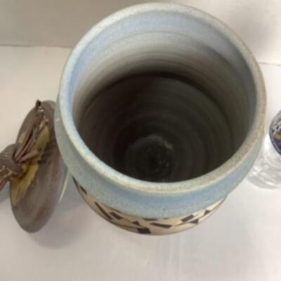 K- 100. Artisan Signed and Handcrafted Raku Pottery