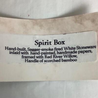 K - 102 Signed by Christine Adcock, Hand- built Spirit Box
