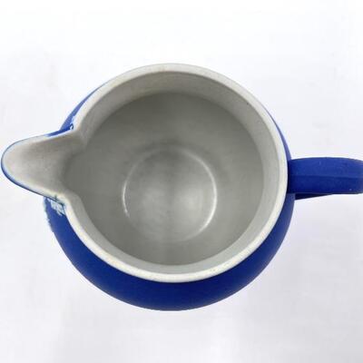 WEDGWOOD COBALT BLUE JASPERWARE SMALL JUG/PITCHER