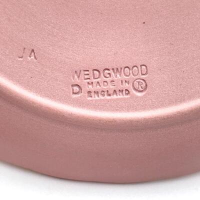 WEDGWOOD PINK JASPERWARE RING HOLDER