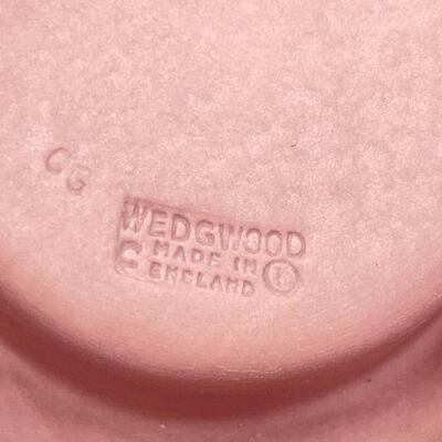 WEDGWOOD PINK JASPERWARE CANDLE HOLDER