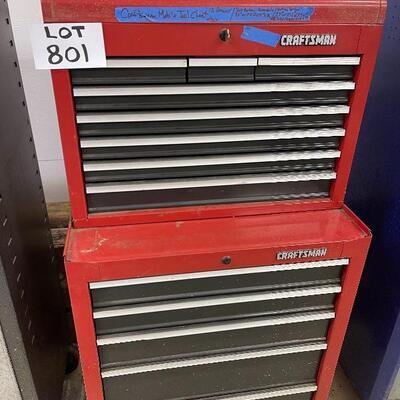 801-Craftsman multilevel steel tool cabinet..