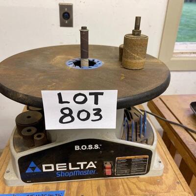 803-Delta B.O.S.S. ShopMaster Oscillating Spindle Sander