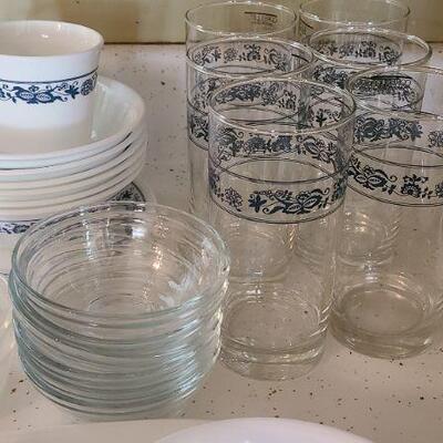 Lot 1K: Corelle Blue & White Dishes