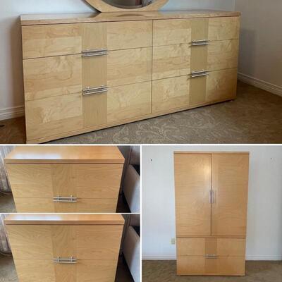 "Scandinavian Style & ""Made in Italy"" 4 Piece Bedroom Set - **Heavy & Solid"