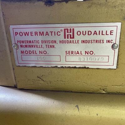 813-Powermatic Houdaille Wood Planer Model: 100