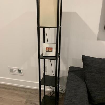 Contemporary lamp/shelf
