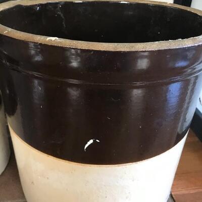 Lot 48L:  #2 & #6 Vintage Crocks