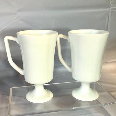 United States Seal Milk Glass Mugs