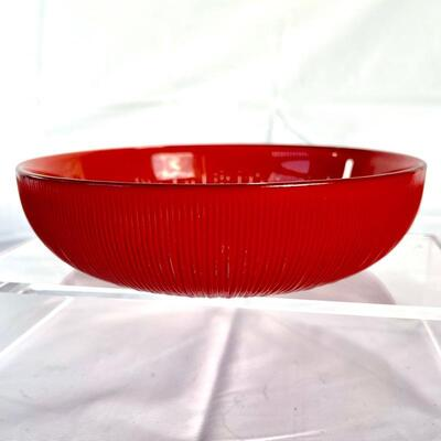 Red Back-Painted Candy  Bowl