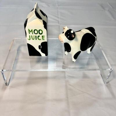 Farm Animals Salt & Pepper Sets (2) - Three Little Pigs Set, Milk Cow & Carton Set