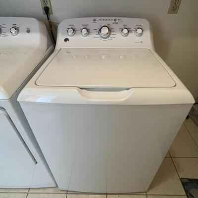 """GE """"Deep Fill he Turbo"""" Washer and Electric Dryer"""