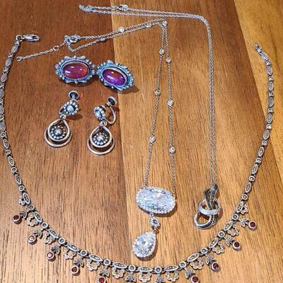 Lot J6: Danecraft Screw Back Earrings & Sterling Jewelry.