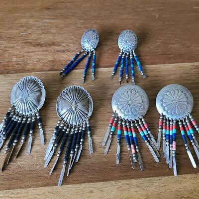 J1: Sterling Signed Vintage Dangle Earrings