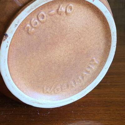 Lot 174: MCM Scheurich Vase & Driburg Copper Coffee Set