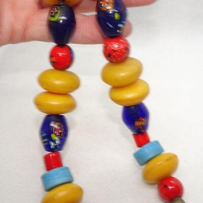 Colorful Tribal Beaded Necklace