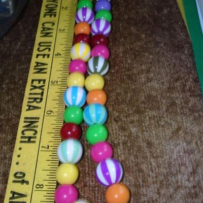 Candy colored Beaded Necklace