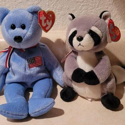 Lot 3: New with Tags TY Beanie Baby Figures x 2
