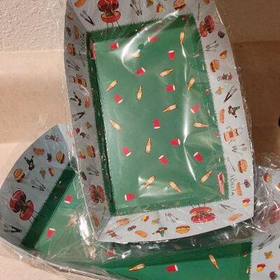 Lot 13: Assorted NEW Hallmark Cookout Party Plates, Napkins and Trays