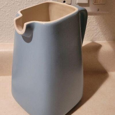 Lot 14: New MICHAEL GRAVES for DANSK Ceramic Pitcher Blue