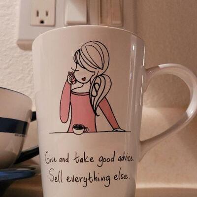 Lot 15: New Kitty Latte Bowl + New Coffee Mug HALLMARK
