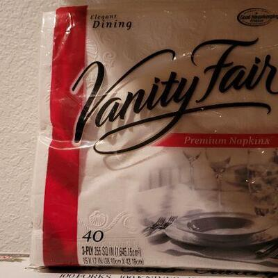 Lot 19; New Plastic Cutlery Set + Vanity Fair Napkins
