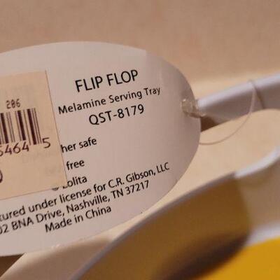 Lot 23: New LOLITA Hallmark Flip Flop Summer Fun Serving Tray