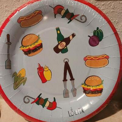Lot 24: Assorted NEW HALLMARK Grilling Theme Plates and Napkins