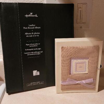 Lot 28: New HALLMARK Leather Memory Album + Someone Special Love Figure