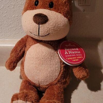 Lot 31: HALLMARK Record a Name Bear - Turns On