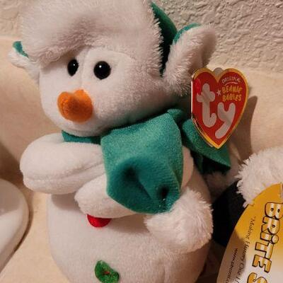 Lot 32: New TY Beanie Baby + New BRITE SPOTS Plush Figure with Sound - Turns On