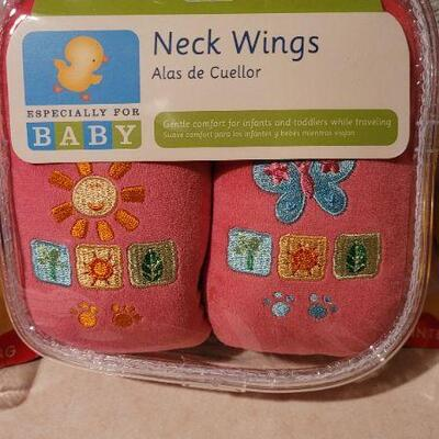 Lot 35: Assorted NEW Baby Items - Toy Balls + Neck Wings