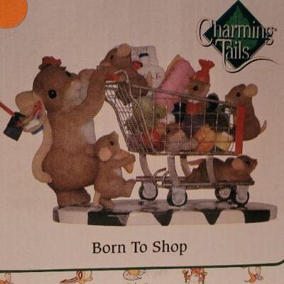 Lot 41: New in Box CHARMING TAILS Born To Shop Figure