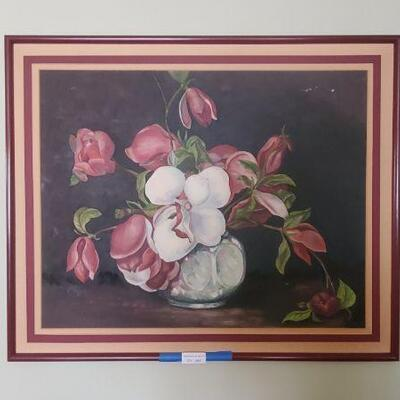 LOT 444 Painting of Flowers
