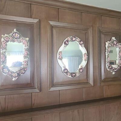 3 Set Flower Mirror Set