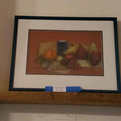 LOT 461 Painting of Fruits