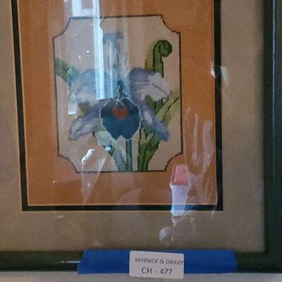 LOT 477 Stitched Painting