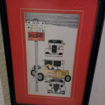 LOT 463 Car Art Work