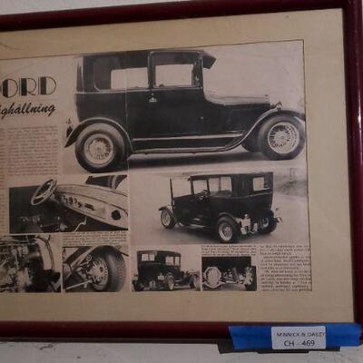 LOT 469 Old Car Ad