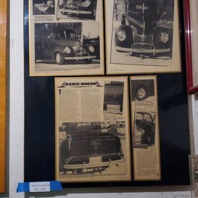 Framed Newspaper Ads