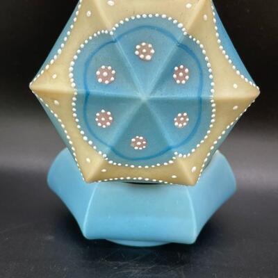 Rare CFM in the Cara beaded dresser trinket box opal glass