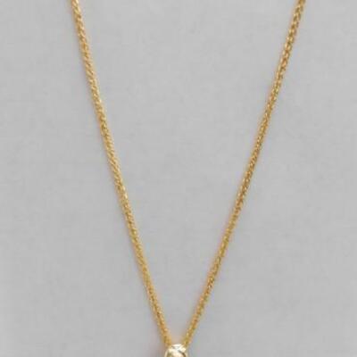 14 KT Garnet Pendant on 14KT Gold 18